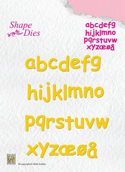Lõiketera Nellies Choice Shape Die - Alphabet 2 small