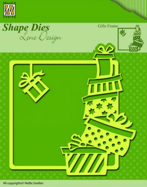 Nellies Choice Shape Die - Xmas gifts frame