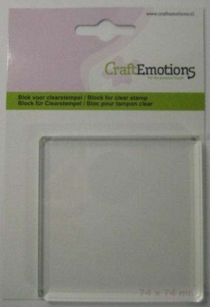 CraftEmotions block for clearstamp 74x74mm - 8mm