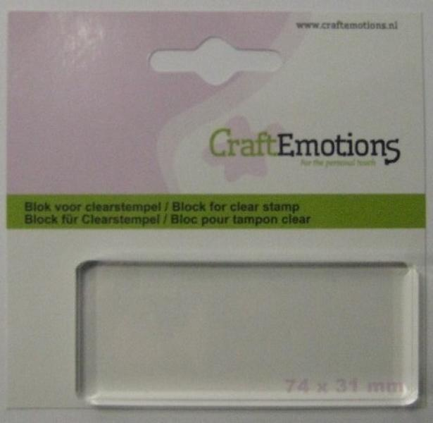 CraftEmotions block for clearstamp 74x31mm - 8mm