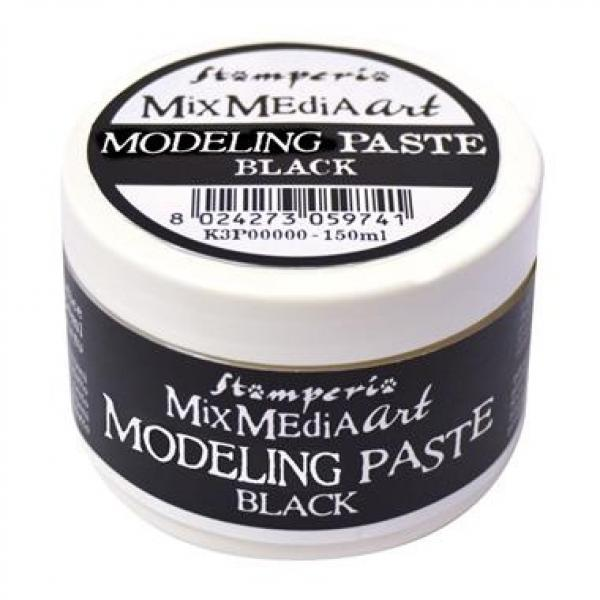 Stamperia MixMedia Art Modeling Paste Black 150ml