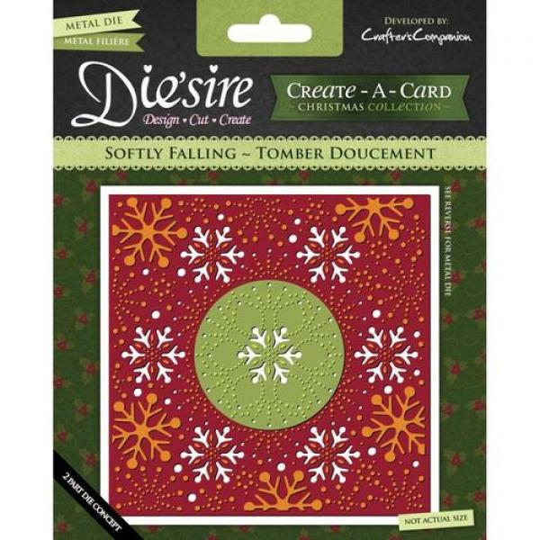 Crafter's Companion Diesire 'Create-a-Card' Metal Die - Softly Falling - Tomber Doucement
