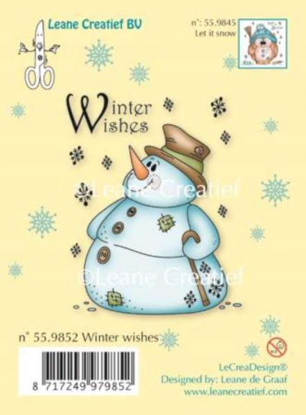 Tempel LeCrea - Clear stamp Snowman Winter wishes