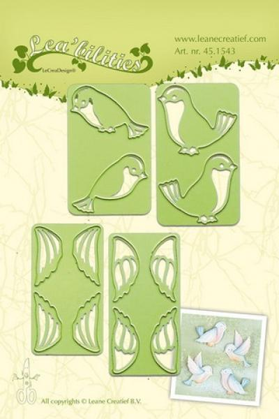 LeCrea - Lea'bilitie small Birds cut and embossing die