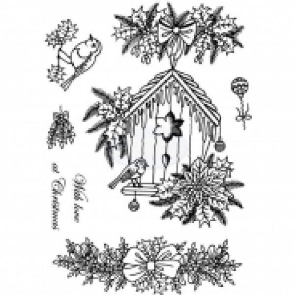 Silikon tempel, Crafty Impressions, CICSA6074, Christmas Bird Box