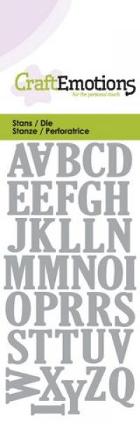 Lõiketera CraftEmotions Die - uppercase alphabet Card 5x10cm