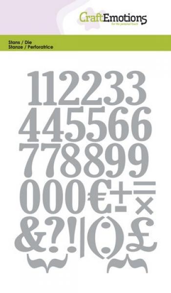 Lõiketera CraftEmotions Die - numbers Card 10,5x14,8cm