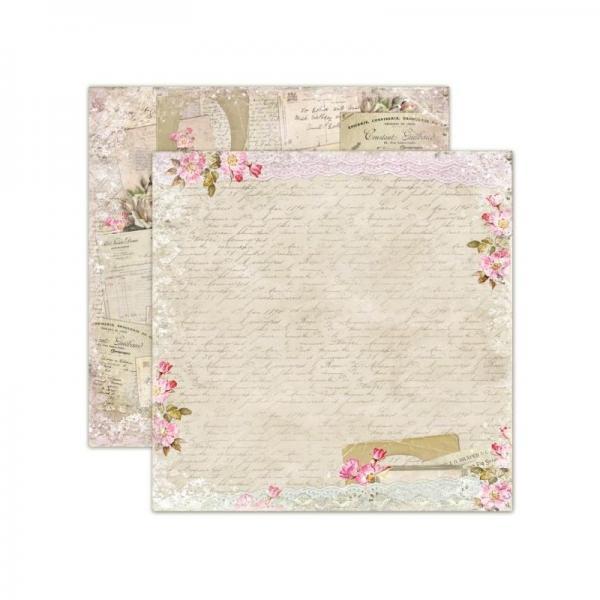Disainpaber 30x30cm LemonCraft House Of Roses - Old Letters