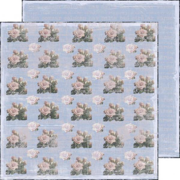 Paber 30x30, REPRINT Hobby Roses in the blue