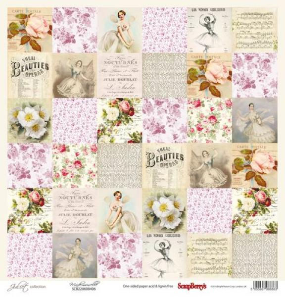 Paber 30x30 ScrapBerrys Juliet collection Mademoiselle