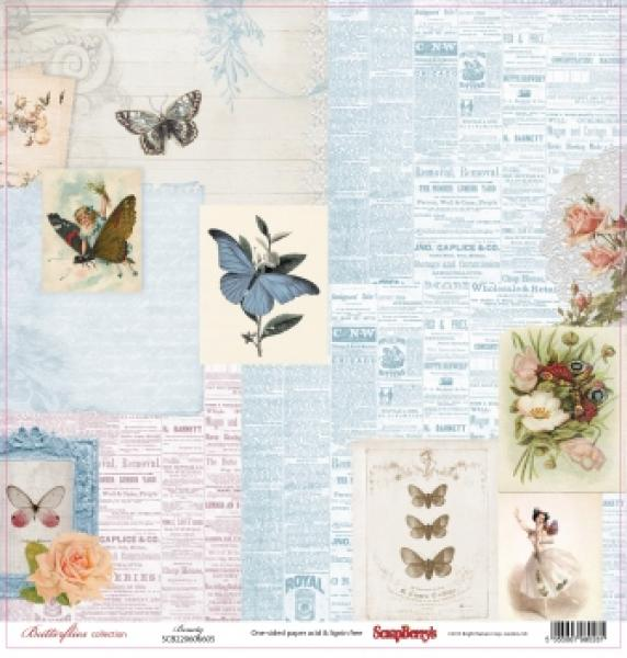 Paber 30x30 ScrapBerrys Butterflies collection Beauty