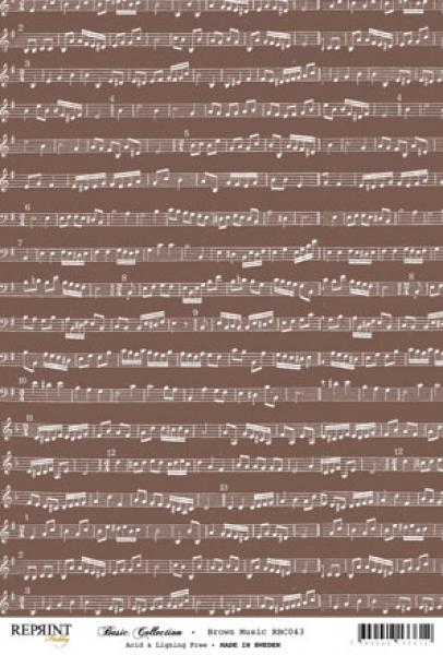 Reprint Hobby A4 Brown Music
