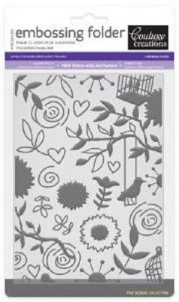 COUTURE CREATIONS Fine Designs Collection OOOH LA LA Embossing Folder