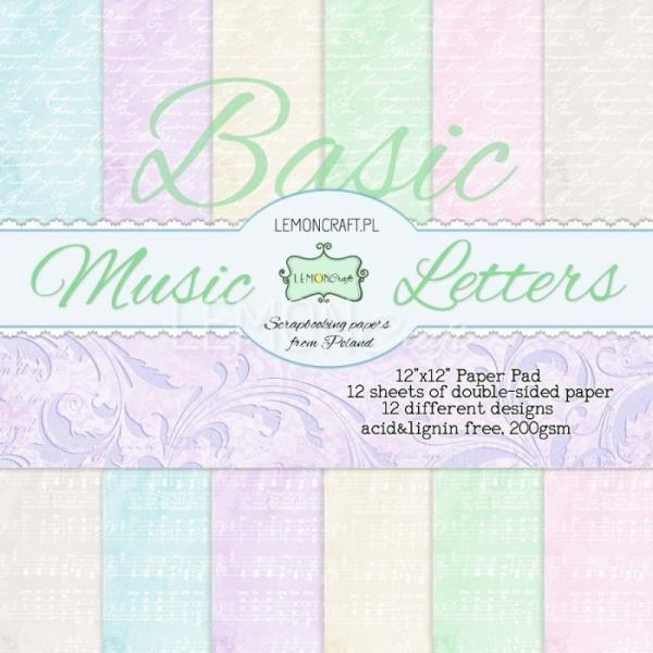 Paberiplokk  30x30 LemonCraft Basic Music Letters