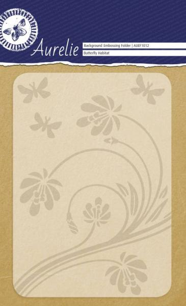 Aurelie Butterfly Habitat Background Embossing Folder