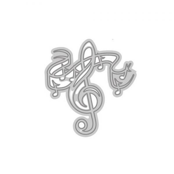 Lõiketera Tonic Studios Die - Rococo petite - treble clef