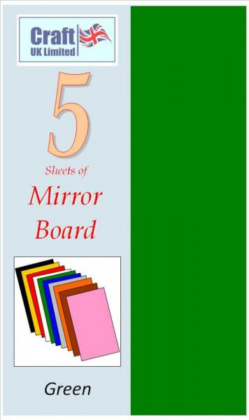Mirror Card Green peegelpinnaga A4 5lehte