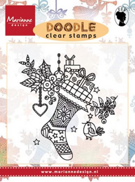 Marianne Design Stamp Doodle - Christmas stocking