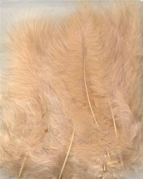 Marabou feathers beige 15pcs