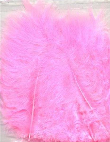 Marabou feathers Pink 15pcs