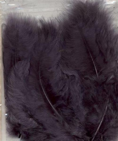 Marabou feathers Gray 15pcs