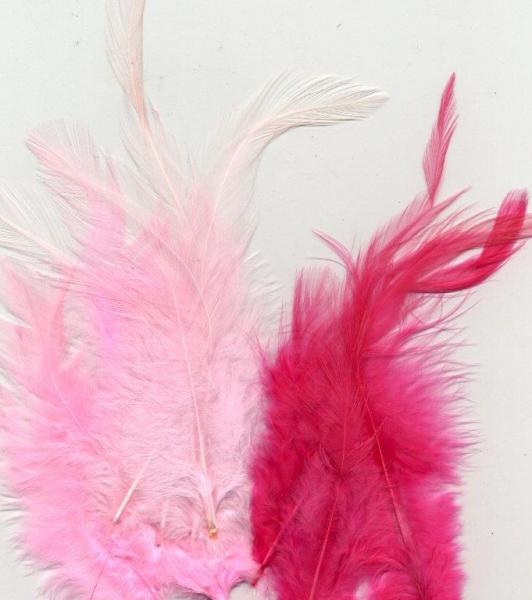 Marabou feathers Pink mix 15pcs