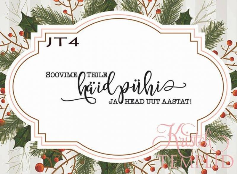 Eesti keelne tempel JT4 - Soovime teile häid pühi ja head uut aastat