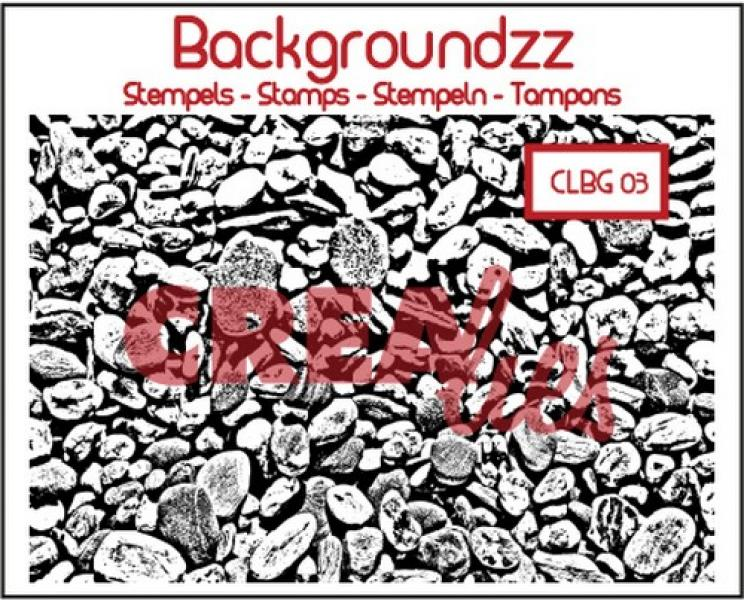 Crealies silikoontempel Backgroundzz 03 Cobbles 95x135mm