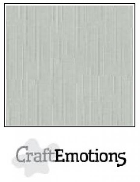 CraftEmotions linen cardboard 10sheets- titanium 30,5x30,5cm