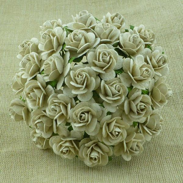 Paberlilled Dove Grey roses MKX-031-25mm 5tk