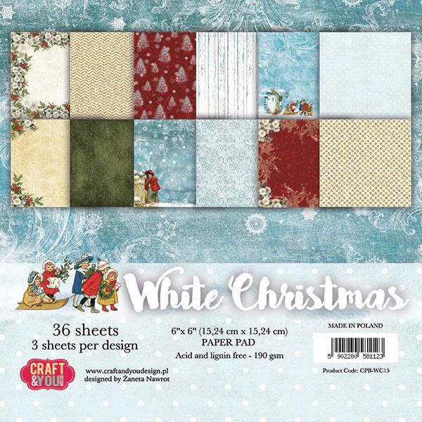 Craft & You Paberiplokk 15x15 White Christmas