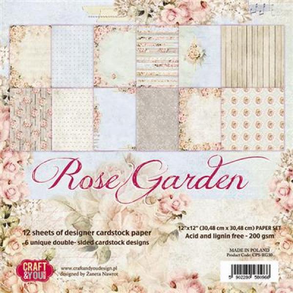 Craft & You Rose Garden paberiplokk 30x30