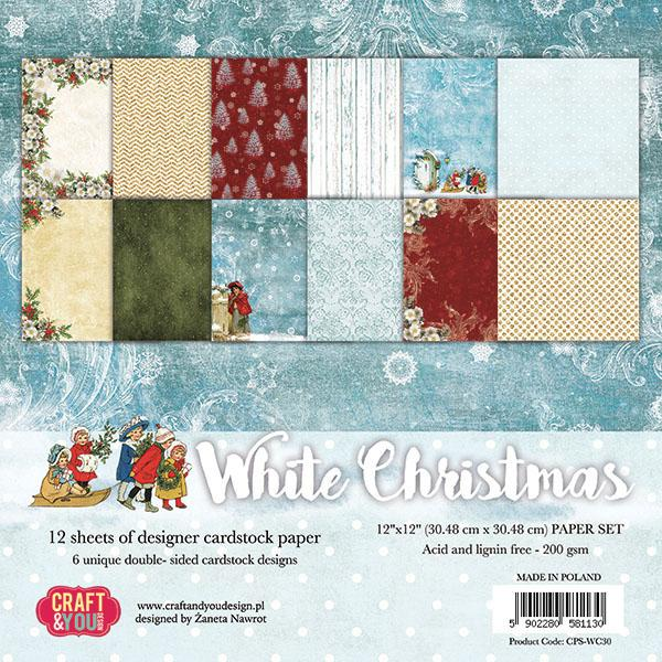 Craft & You Paberiplokk 30x30 White Christmas