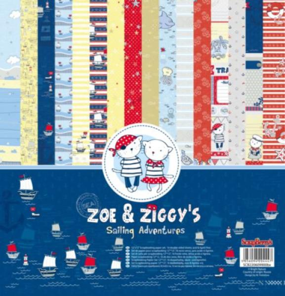 ScrapBerry's Zoe & Ziggy's Sailing Adventures 30x30