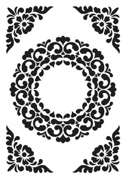 Nellie`s Choice Embossing folder Ornament Frame