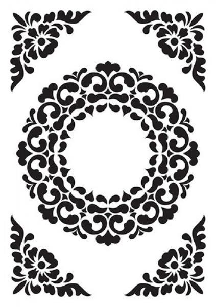 Nellie`s Choice Embossing folder Ornament Frame