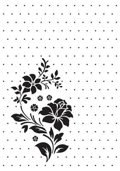 Nellies Choice Embossing Folder Rose Ornament