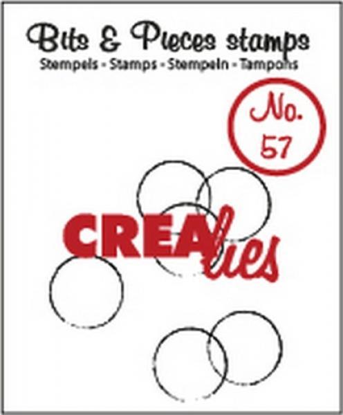 Crealies silikoontempel Grunge Circles