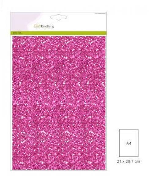 CraftEmotions glitter paber 5lehte pakis 120g 29x21cm - cyclamen