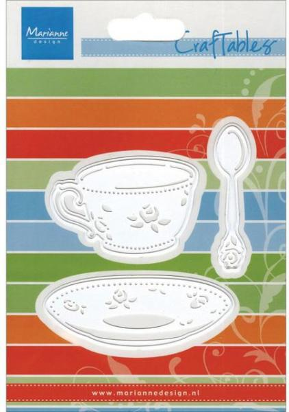Lõiketera Marianne Design Coffee Cup, Saucer Spoon Die