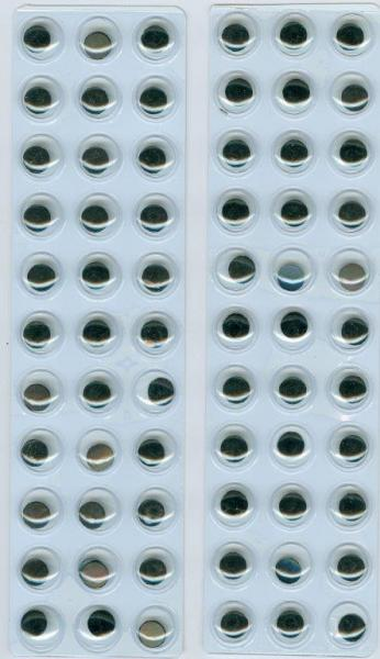 Hobby & Crafting Fun Movable eyes self-adhesive 66pcs 10mm