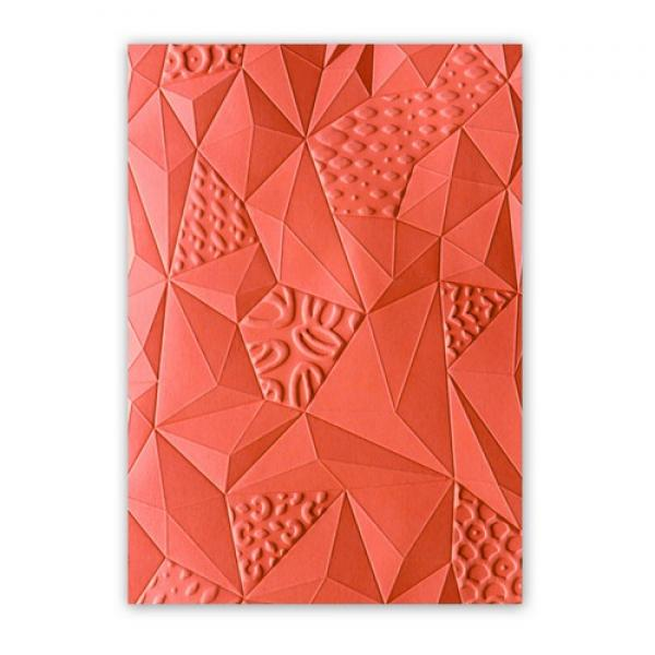 Sizzix 3D Embossing Folder Jumbled Triangles
