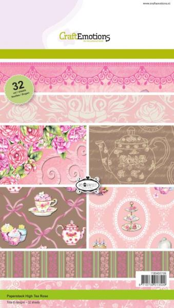 CraftEmotions Paperstack High Tea Rose 32sheets A5