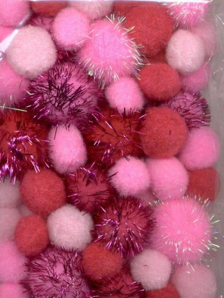 Hobby & Crafting Fun mix PomPom roosades toonides