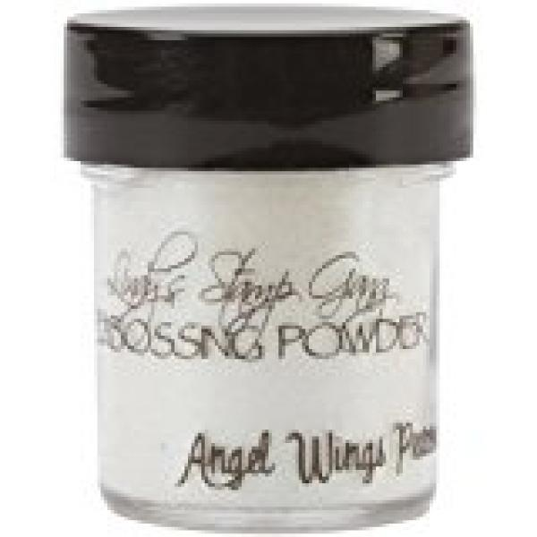 Lindy's Stamp Gang Angel Wings Ruby Embossing Powder