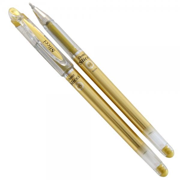 Geelpliiats. Pentel Slicci Metallic 0,8 kuld/12