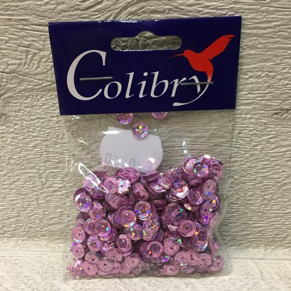 Litrid, ümarad, roosad, 6mm, 10 grammi