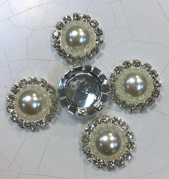 Metallist kaunistus, pärl kivikestega, 5tk
