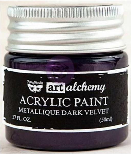 Prima Marketing Art Alchemy Acrylic Paint - Metallique Dark Velvet