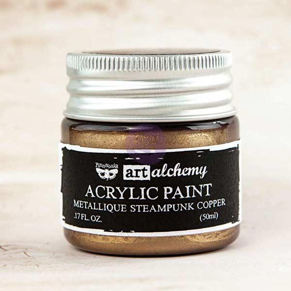 Prima Marketing Art Alchemy Acrylic Paint - Metallique Steampunk Copper
